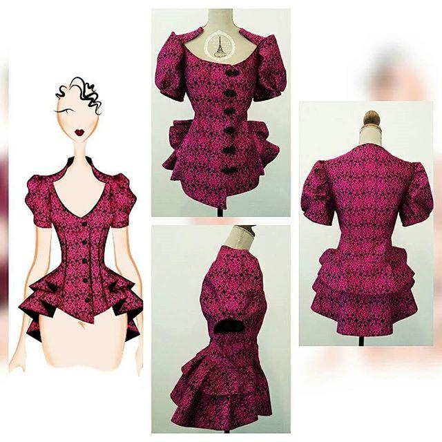 Modista Barcelona: confección de prenda, corset rojo