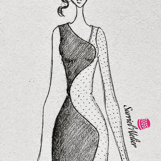 Diseño de vestido de fiesta en Barcelona - vestido con transparencia