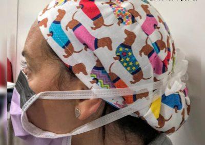 Gorros de quirofano personalizados modista Barcelona Surriel Atelier