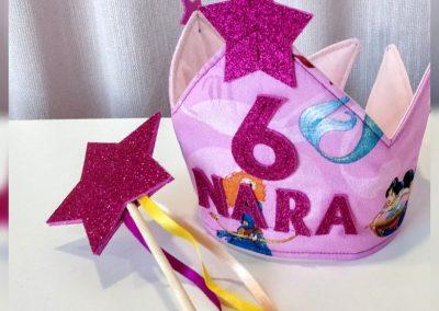corona de cumpleaños niña modista barcelona