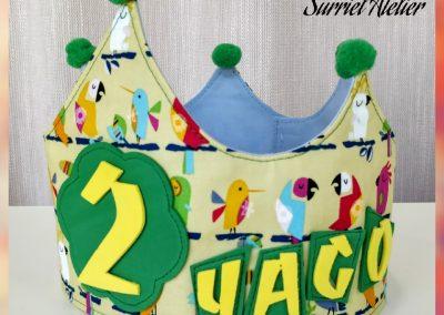 coronas de cumpleaños tela modista barcelona