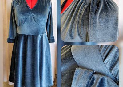 vestido a medida terciopelo modista barcelona surriel atelier
